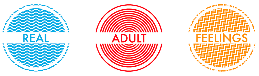 Real Adult Feelings: A Webseries colorful logo